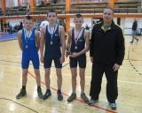 Varžybų prizininkai: Darius Gudmonas, Dovydas Petkevičius, Donatas Gudmonas ir treneris Rytis Keršys.