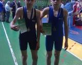 Nuotraukoje iš kairės: Donatas ir Darius Gudmonai po apdovanojimo