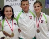 G.Blekaitytė, treneris Aivaras Kaselis ir D.Domikaitytė