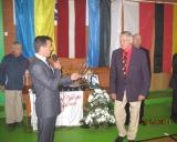 70-mečio proga anykštėnai sveikina daugkartinį Lietuvos čempioną šiaulietį Stasį Rimkų