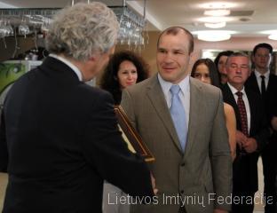 Apdovanojamas Mindaugas Ežerskis
