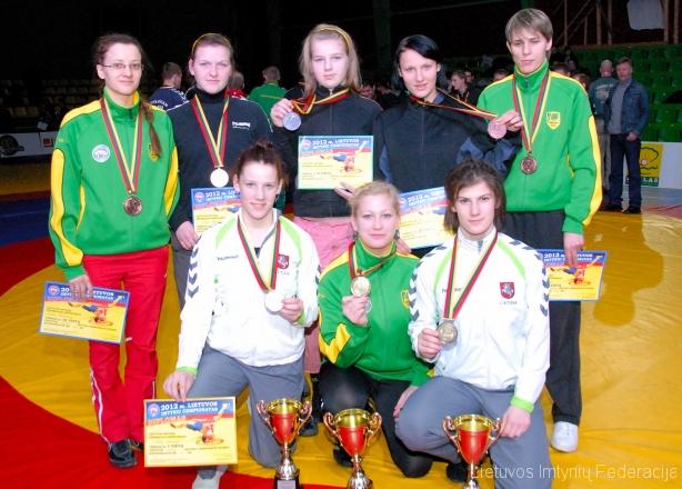 Čempionato nugalėtojos ir prizininkės