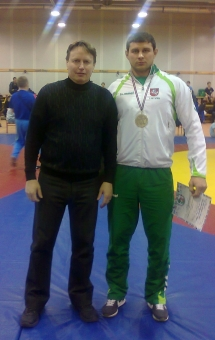 Treneris Vladimiras Audickas ir Aldas Lukošaitis