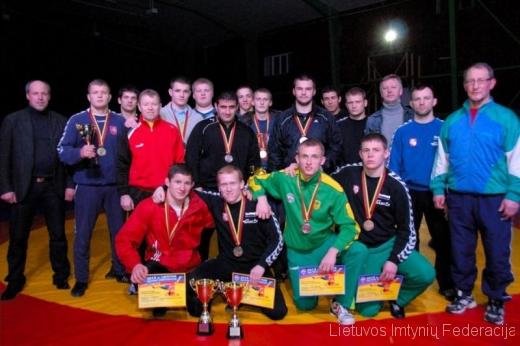 Klaipėdiečiai - Lietuvos imtynių čempionato dalyviai