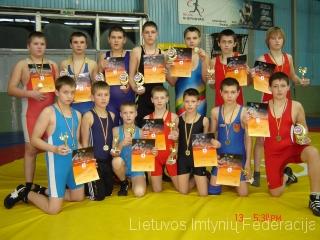 2012 m. laisvųjų imtynių vaikų pirmenybių nugalėtojai