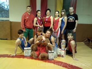 Lietuvos moterų imtynių komanda Daugpilyje