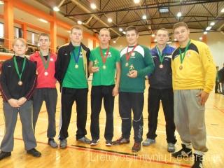 iš kairės: Karolis Pociūnas, Mantas Laskovas, Deividas Gudmonas, Lukas Degimas, Tomas Gumuliauskas, Remigijus Zablockis, Olegas Pirohovas