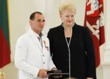 Lietuvos prezidentė aukštai įvertino imtynininkų laimėjimus Londono olimpinėse žaidynėse