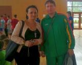 Turnyro organizatorė Magda Daszkiewicz ir Vladimiras Audickas