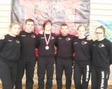 Iš kairės: Indrė Bubelytė, Andrius Stočkus, Danutė Domikaitytė, Aivaras Kaselis, Karolina Latožaitė ir Rugilė Abraškevičiūtė