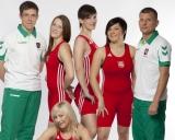 Iš kairės stovi: treneris Andrius Stočkus, Kristina Domikaitytė, Danutė Domikaitytė, Giedrė Blekaitytė, treneris Aivaras Kaselis; sėdi Indrė Bubelytė,