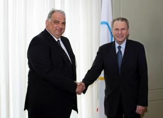 L.e. FILA prezidentas Nenadas Lalovičius ir TOK prezidentas  Jacque Rogge