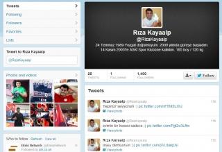 R.Kayaalpo paskyra Twiteryje