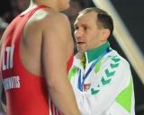 Vilius Laurinaitis ir treneris Ruslanas Vartanovas