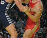 Artūras Sekus (mėl. triko) ir Romanas Vlasovas