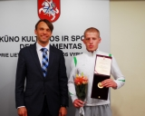 KKSD generalinis sekretorius Edis Urbanavičius ir Edgaras Venckaitis
