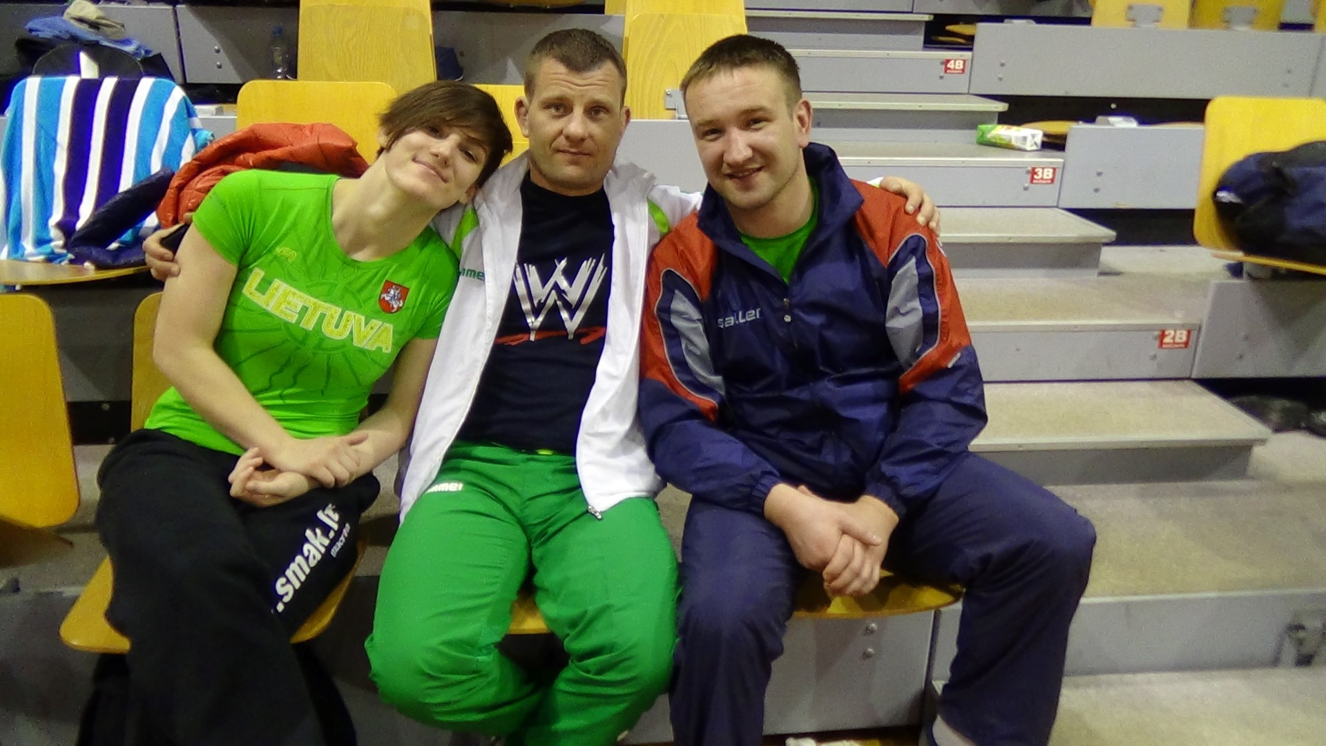 D.Domikaitytė, treneriai A.Kaselis ir O.Antoščenkovas