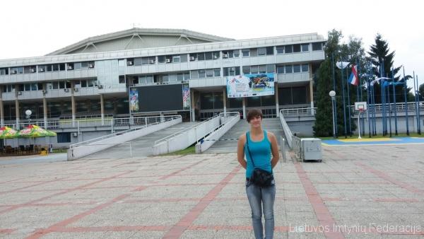 Danutė Domikaitytė prie Zagrebo Dom Sportova arenos