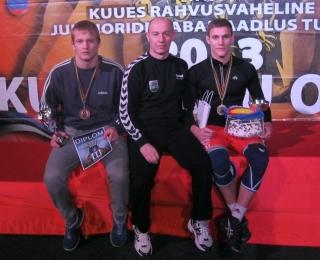 Andrius Mažeika, treneris Valdas Grišius, Andrius Žekas