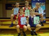 """Penki """"laisvūnai"""" tapo tarptautinio imtynių turnyro Kaliningrade prizininkais"""