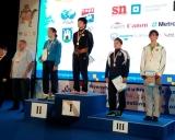 Danutė Domikaitytė pasaulio jaunimo imtynių čempionato apdovanojimo ceremonijoje