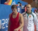 V.Laurinaitis ir treneris M.Ežerskis