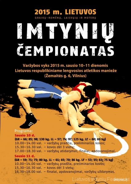2015 Lietuvos imtynių čempionatas