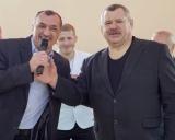Taurages sporto centro direktorius Gediminas Sakalauskas ir V.Mizgaitis