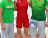 treneriai A.Kaselis, A.Stočkus ir D.Domikaitytė
