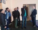 Armėnijos Nacionalinio olimpinio komiteto Sporto komplekse(Olympavane) Armėnijos sporto ir jaunimo reikalų ministras Gračia Rostomyan (jis šiuo metu yra ir Armėnijos imtynių federacijos vadovas) LIF prezidentui G.Dambrauskas ir Lietuvos ambasadoriui Erikui Petrikui pristato naująją imtynių salę.