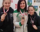 2016 m. Czarny Bor Open. Iš kairės: Kamilė Gaučaitė, Danutė Domikaitytė, Gabija Dilytė