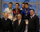 61 kg iš kairės: Andrius Žekas (II v.), Tomas Baracevičius (II v.), Lukas Lipnickas ir Karolis Buslys (III v.)