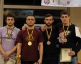 70 kg iš kairės: Ariomas Auga (II v.), Stanislavas Bajurinas (I v.), Vitalijus Katiševskis ir Gvidas Rubežius (III v.)