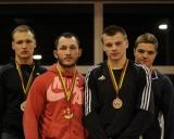 75 kg iš kairės: Mindaugas Šurmaitis (II v.), Mantas Sinkevičius (I v.), Donatas Gudmonas ir Artūras Jarčevskis (III v.)