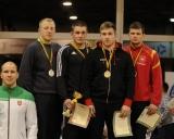 80 kg iš kairės: treneris Mindaugas Ežerskis, Mantas Vitkus (II v.), Benas Keršys (I v.), Vytautas Inčiūnas ir Gediminas Šurmatis (III v.)