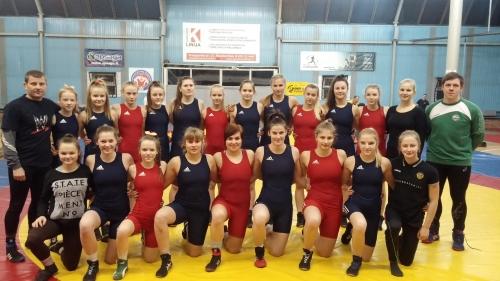 2016 m. Šiaulių moterų imtynių komanda