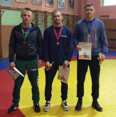 Iš kairės: Nikita Gerasimovas, Andrius Mažeika, Domantas Pauliuščenko