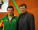 Treneris Edvardas Malyško ir Segejus Jovaiša