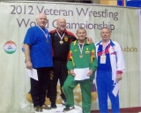 2012 m. ant pjedestalo pasaulio čempionate Vengrijoje