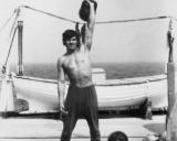1973 m. jūroje - treniruotė su svarsčiais