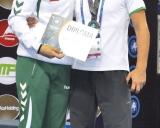 Kamilė Gaučaite ir treneris Aivaras Kaselis