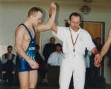 1999 m. Lietuvos čempionatas, Vilnius. Remigijus Šukevičius ir teisėjas Eduardas Fainsteinas (4)