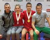 Iš kairės: treneris Arūnas Paplauskas, Eglė Valčiukaitė, Vadimas Babuškinas ir treneris Andrejus Iljinas