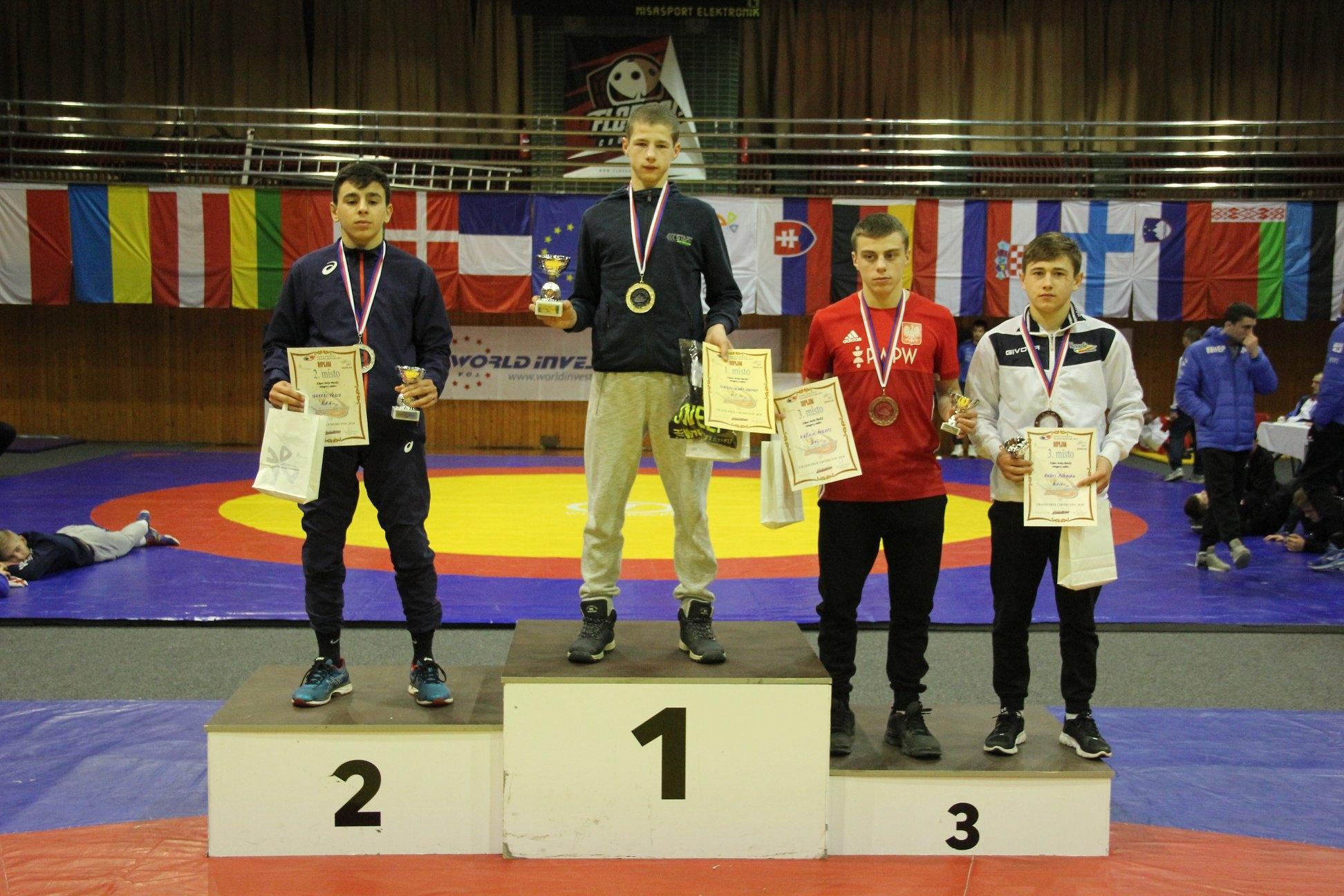 2018 m. Tarptautinis turnyras Chomutove (Čekija). Adomas Grigaliūnas -1 vieta