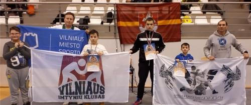 2018 Vilniaus komanda imtynių turnyre Salduse (Latvijoje)
