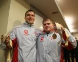 Valdemaras Venckaitis ir Mindaugas Ežerskis po 2007 metų pasaulio čempionato