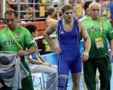 Valdemaras Venckaitis su treneriais Grigorijumi Kozovskiu ir Ruslanu Vartanovu