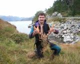 Nardymo Norvegijoje laimikis - įspūdingas omaras