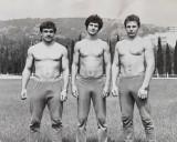 1982 m. Alušta (Ukraina). Iš kairės Vidas Paleckis, Evaldas Malelė, Virginijus Švambaris