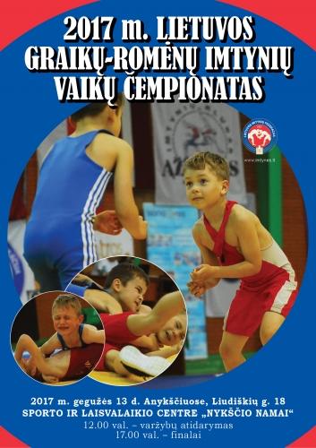 2017 Lietuvos graikų-romėnų imtynių vaikų čempionatas_Anyksciai_ GR_plakatas